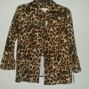 Charter Club Animal Print Blazer Jacket sz. L